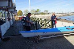 Oliver Bjerregaard døber i 2014 klubbens første coastalbåd: TOR