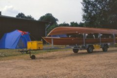 Bådeormen kom i klubbens eje i 1988 – senere er den blevet ombygget til  3 både
