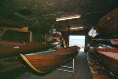 Bådehallen i det gamle klubhus 1990 (med HAFNIA)