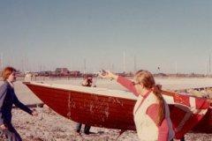 Dåb af plastbåden GUS i 1976
