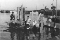 Kong Neptun til havnefest cirka 1950