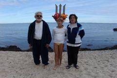 3. generation: Sarah med mor Pernille og morfar Erik Rolf