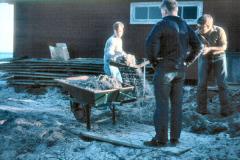 April 1967: vinteren ødelagde hvert år forpladsen.  Ole Helsted, Leif Andersen og Niels Ryhding
