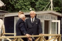 Æresmedlemmerne Oluf Andersen og Christian Larsen deltog i indvielsen.
