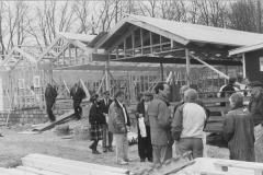 Rejsegilde 3. april 1991.  Bl.a. Svend Sylvander,  Leif Andersen og snedkermester Jens Venø Nielsen.